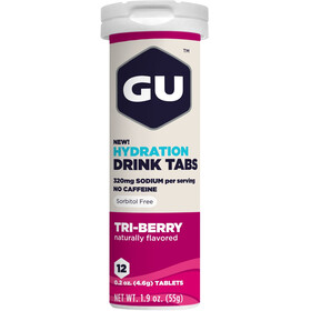 GU Energy Hydration Sportdrank Tabs 12 Pieces, Triberry